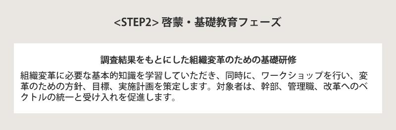 STEP2 啓蒙・基礎教育フェーズ